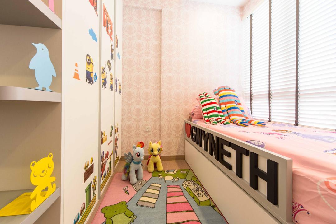 Austville Residences, Unity ID, Transitional, Bedroom, Condo, Venetian Blinds, Childrens Room