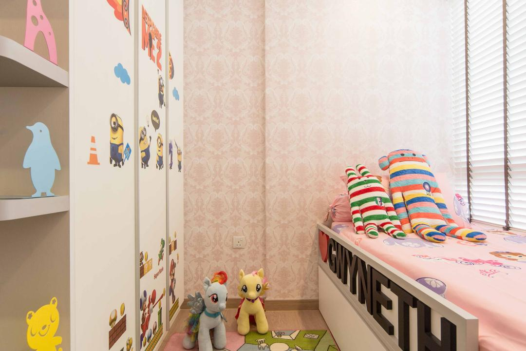 Austville Residences, Unity ID, Transitional, Bedroom, Condo, Wallpape, Concealed Light, Childrens Room
