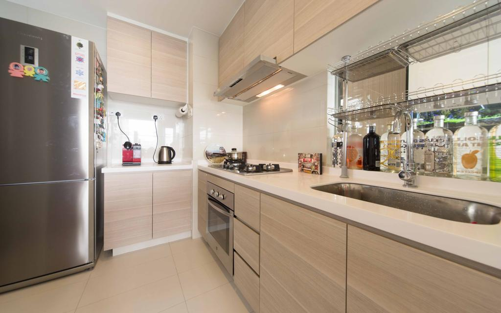 Transitional, Condo, Kitchen, Austville Residences, Interior Designer, Unity ID, Wood Laminate