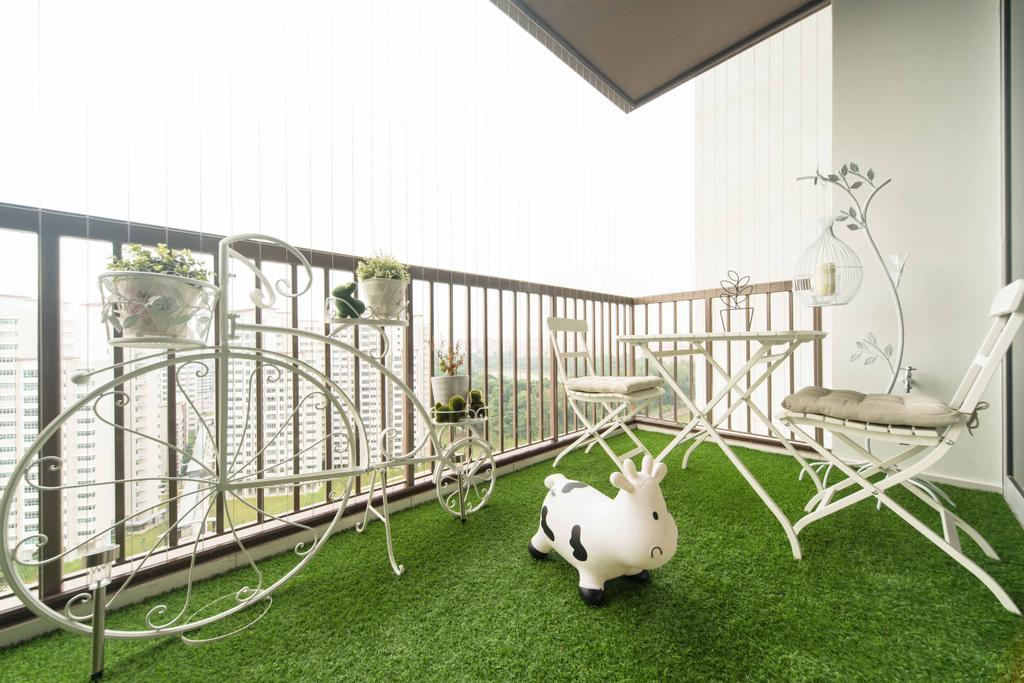 Transitional, Condo, Balcony, Austville Residences, Interior Designer, Unity ID, Grass Carpet