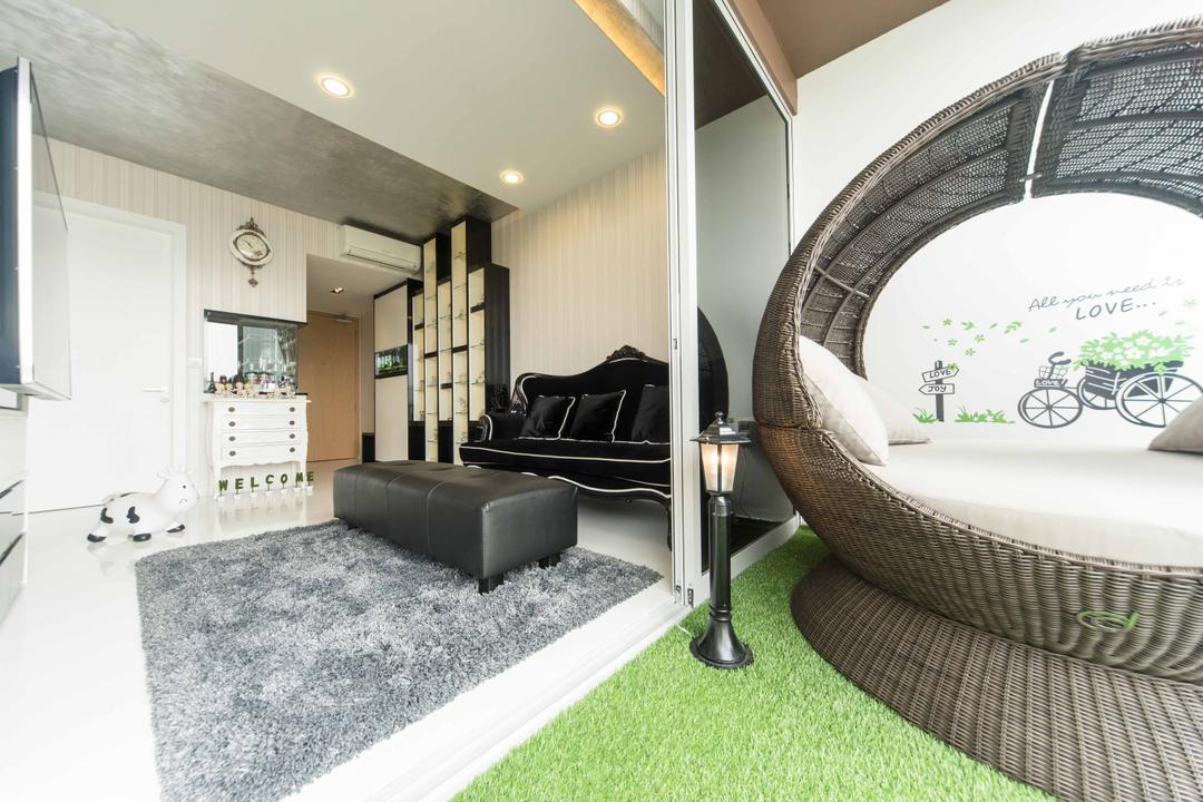 Austville Residences, Unity ID, Transitional, Living Room, Condo, Faux Grass, Grass Carpet