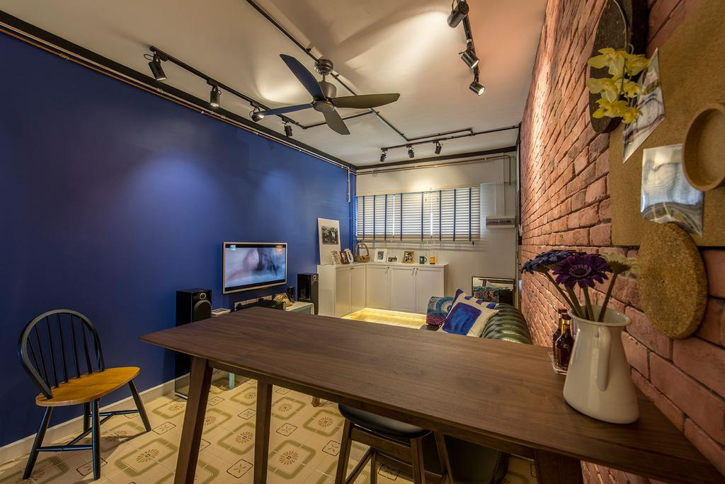 Eclectic, HDB, Living Room, Chai Chee Drive, Interior Designer, Ace Space Design, Chair, Furniture, Flora, Jar, Plant, Potted Plant, Pottery, Vase, Dining Room, Indoors, Interior Design, Room, Dining Table, Table
