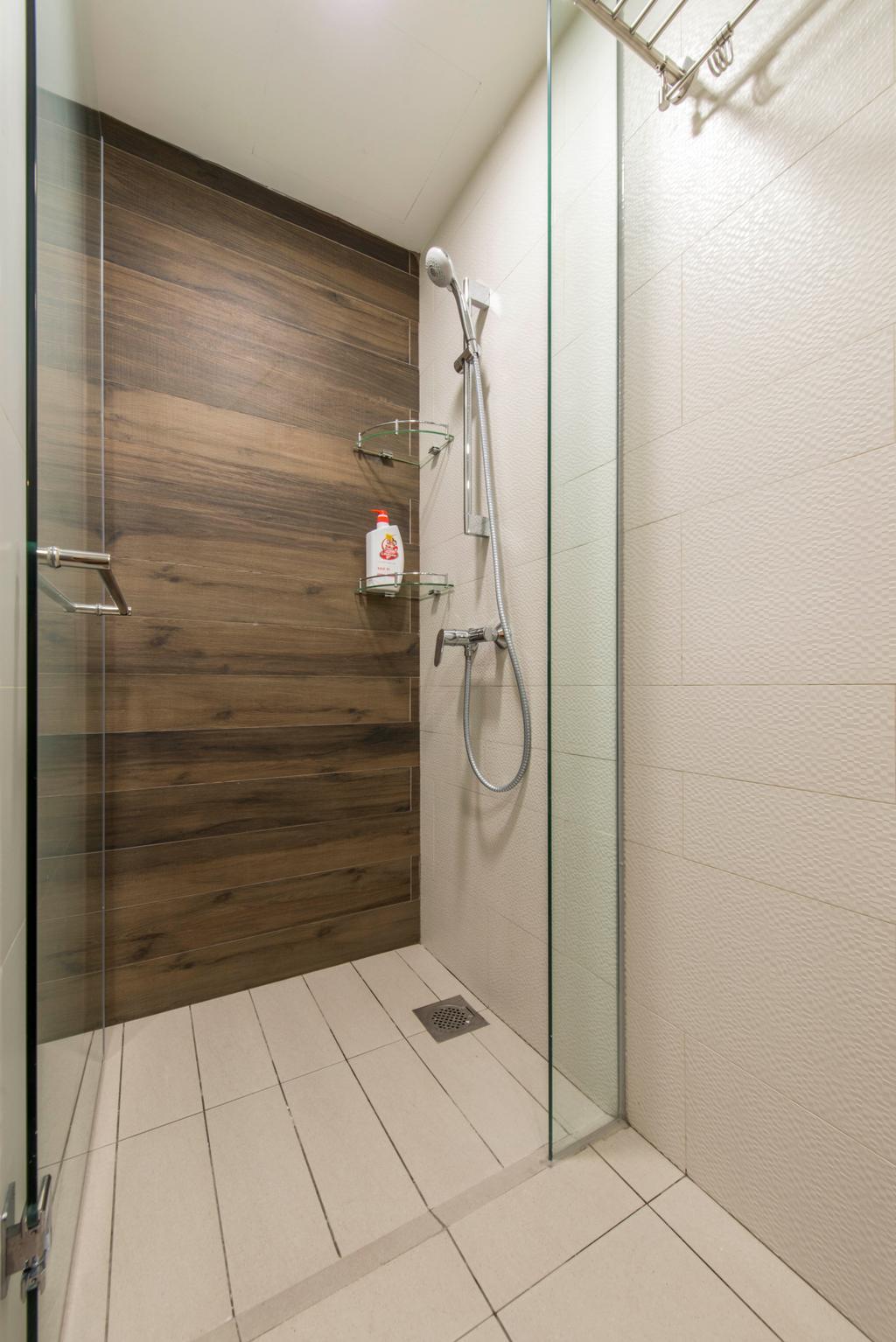 Contemporary, Condo, Bathroom, Ripple Bay, Interior Designer, Yonder, Hand Shower Set, Feature Wall, Bathroom Tiles