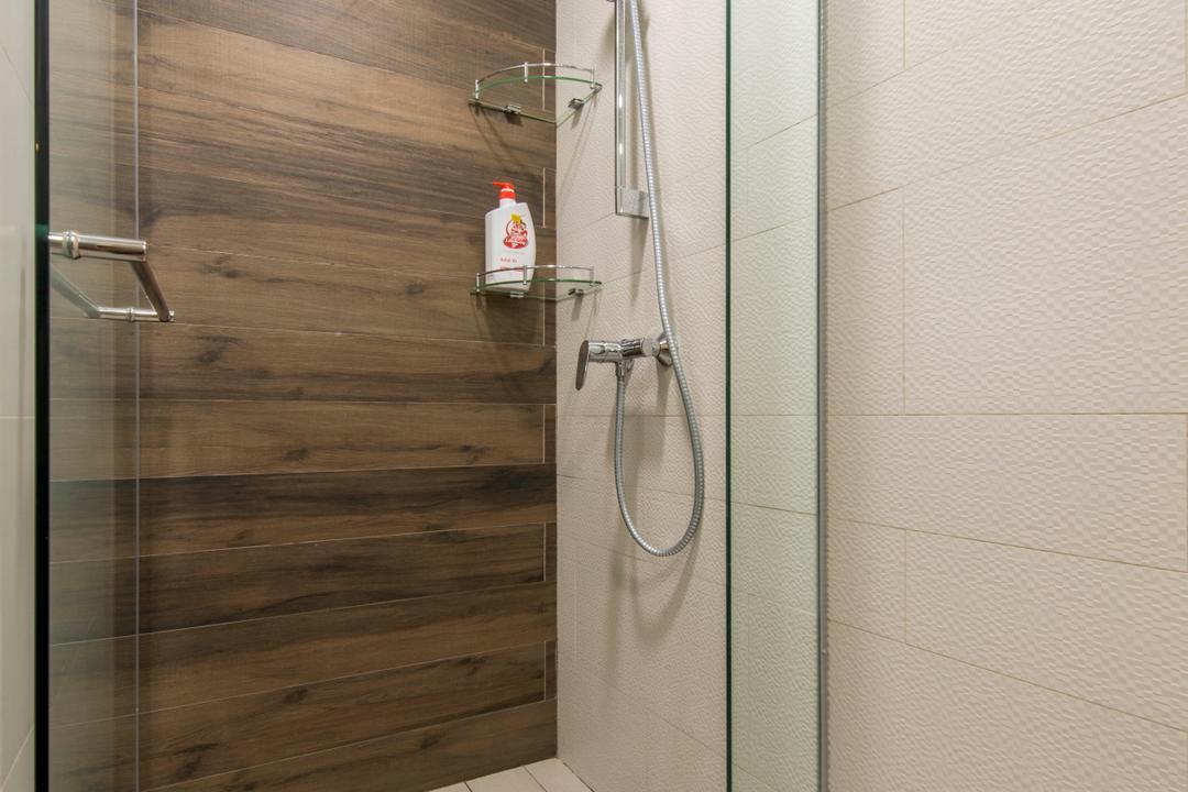 Ripple Bay, Yonder, Contemporary, Bathroom, Condo, Hand Shower Set, Feature Wall, Bathroom Tiles