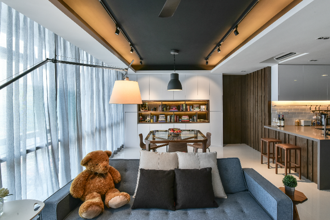 The Capers, Surface R Sdn. Bhd., Industrial, Modern, Living Room, Condo, Teddy Bear, Toy, Couch, Furniture, Indoors, Interior Design