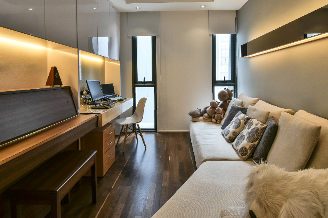 The Capers, Surface R Sdn. Bhd., Industrial, Modern, Study, Condo, Couch, Furniture, Desk, Table, Indoors, Room