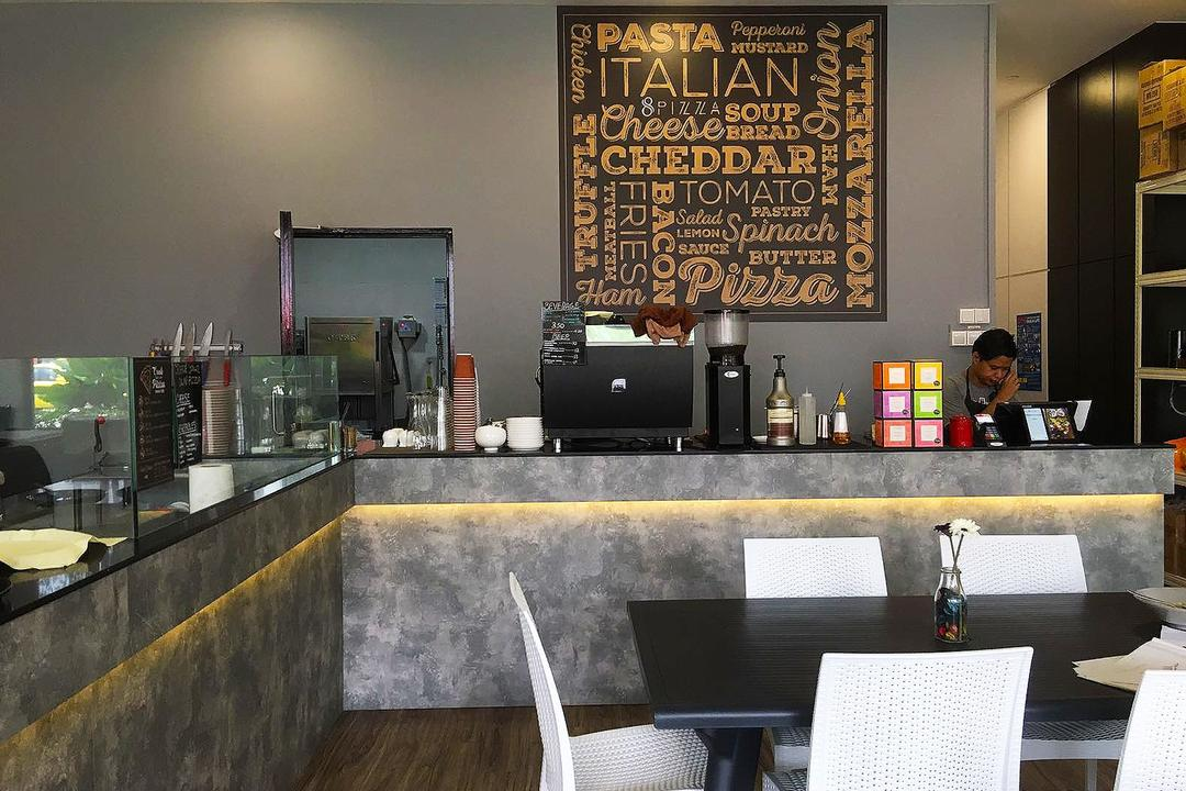 8 Pizza, Style Living Interior, Industrial, Scandinavian, Commercial, Counter, Cove Lighting, Human, People, Person