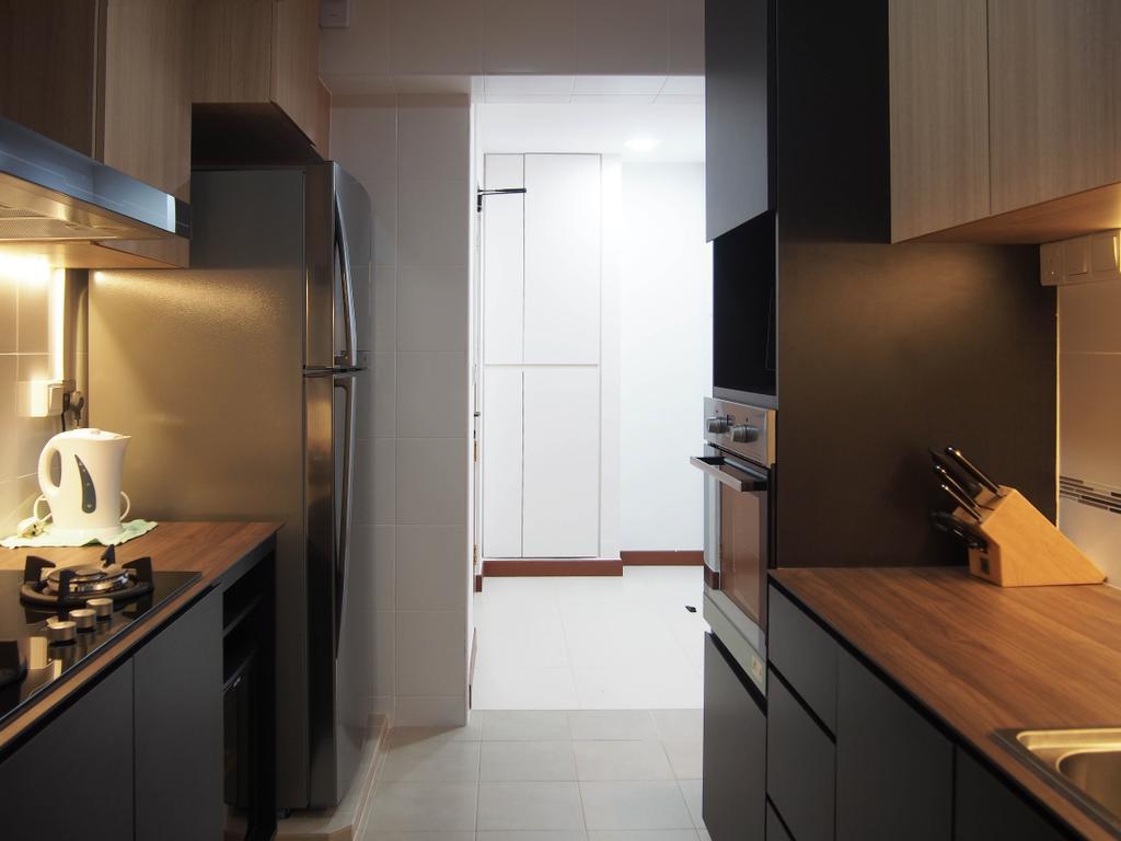 Scandinavian, HDB, Kitchen, Boon Tiong, Interior Designer, Style Living Interior, Indoors, Interior Design, Tile, Bathroom, Room