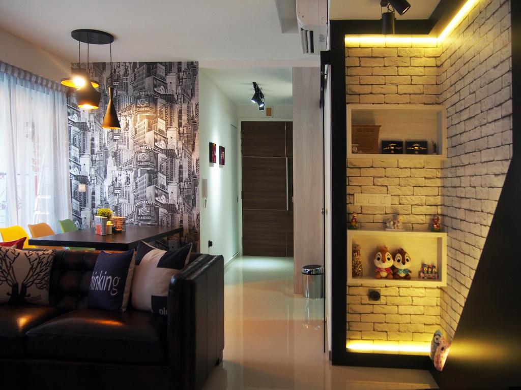 Eclectic, Condo, The Arc @ Tampines, Interior Designer, Style Living Interior, Couch, Furniture