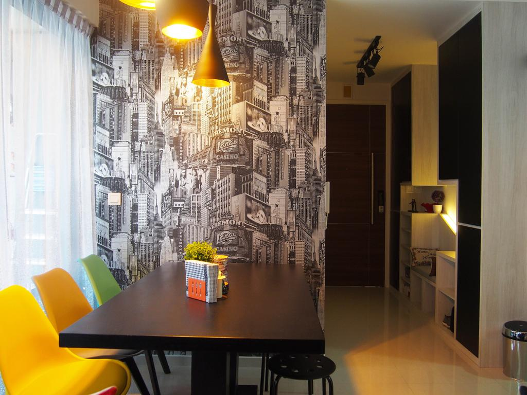 Eclectic, Condo, Dining Room, The Arc @ Tampines, Interior Designer, Style Living Interior, Indoors, Interior Design, Room, Chair, Furniture, Appliance, Electrical Device, Fridge, Refrigerator