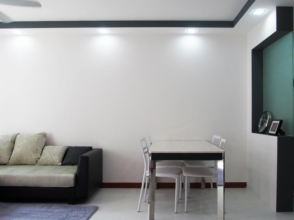 Modern, HDB, Dining Room, Sengkang West Way, Interior Designer, Style Living Interior, Couch, Furniture, Dining Table, Table, Chair