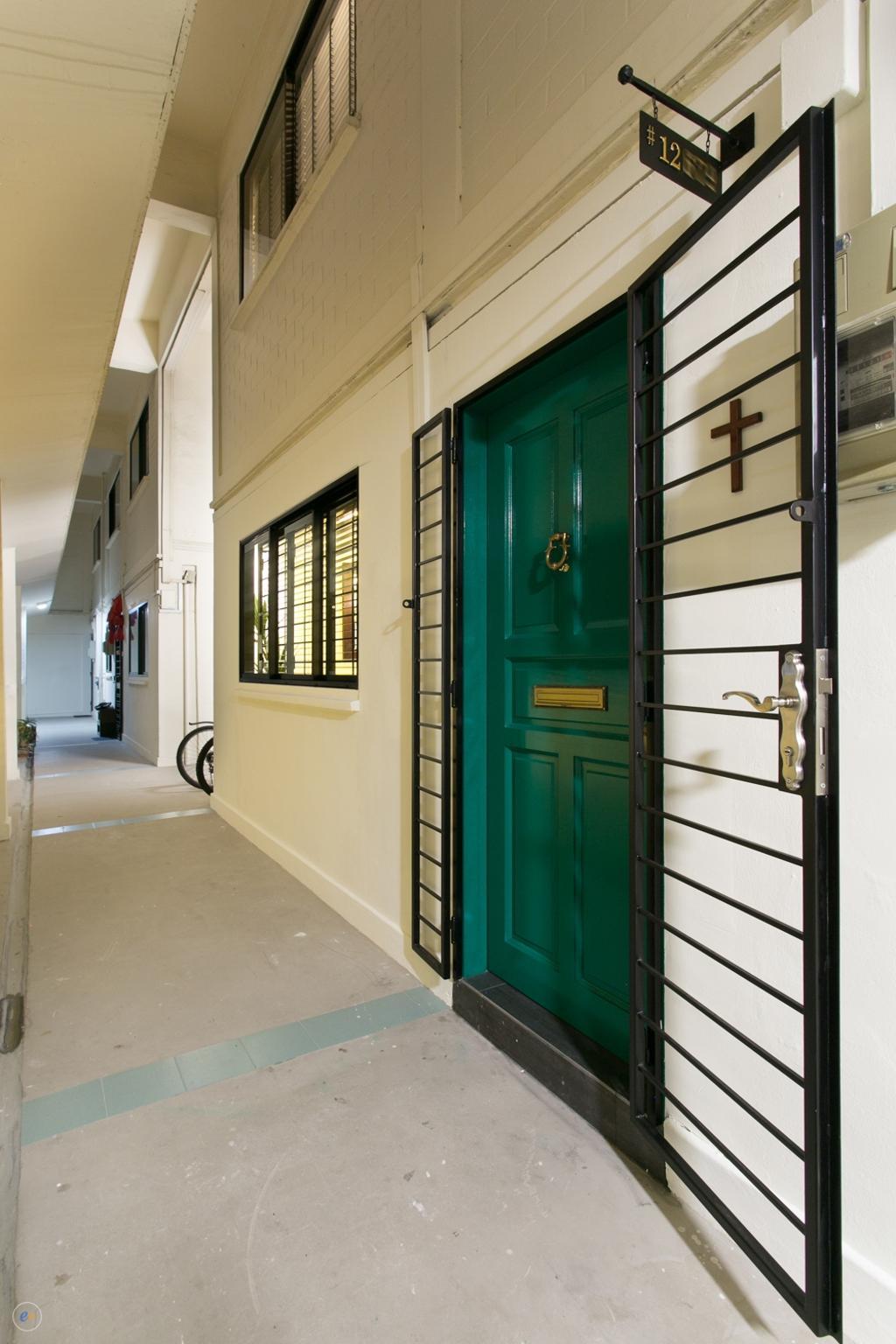 Contemporary, HDB, Ubi, Interior Designer, Fineline Design, Gate, Grille, Entrance, Main Door