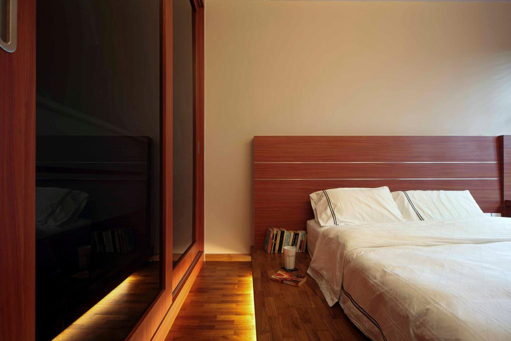 Traditional, HDB, Bedroom, Punggol Road (Block 603B), Interior Designer, Boon Siew D'sign, Blinds, Lighting, Wooden Headboard, Couch, Furniture, Bed