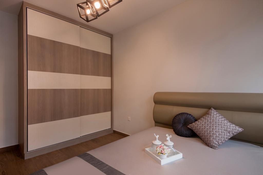 Scandinavian, HDB, Bedroom, Keat Hong Colours (Block 810B), Interior Designer, Starry Homestead, Built In Wardrobe, Cube Lighting, Pendant Lighting, Sliding Wardrobe, Indoors, Interior Design