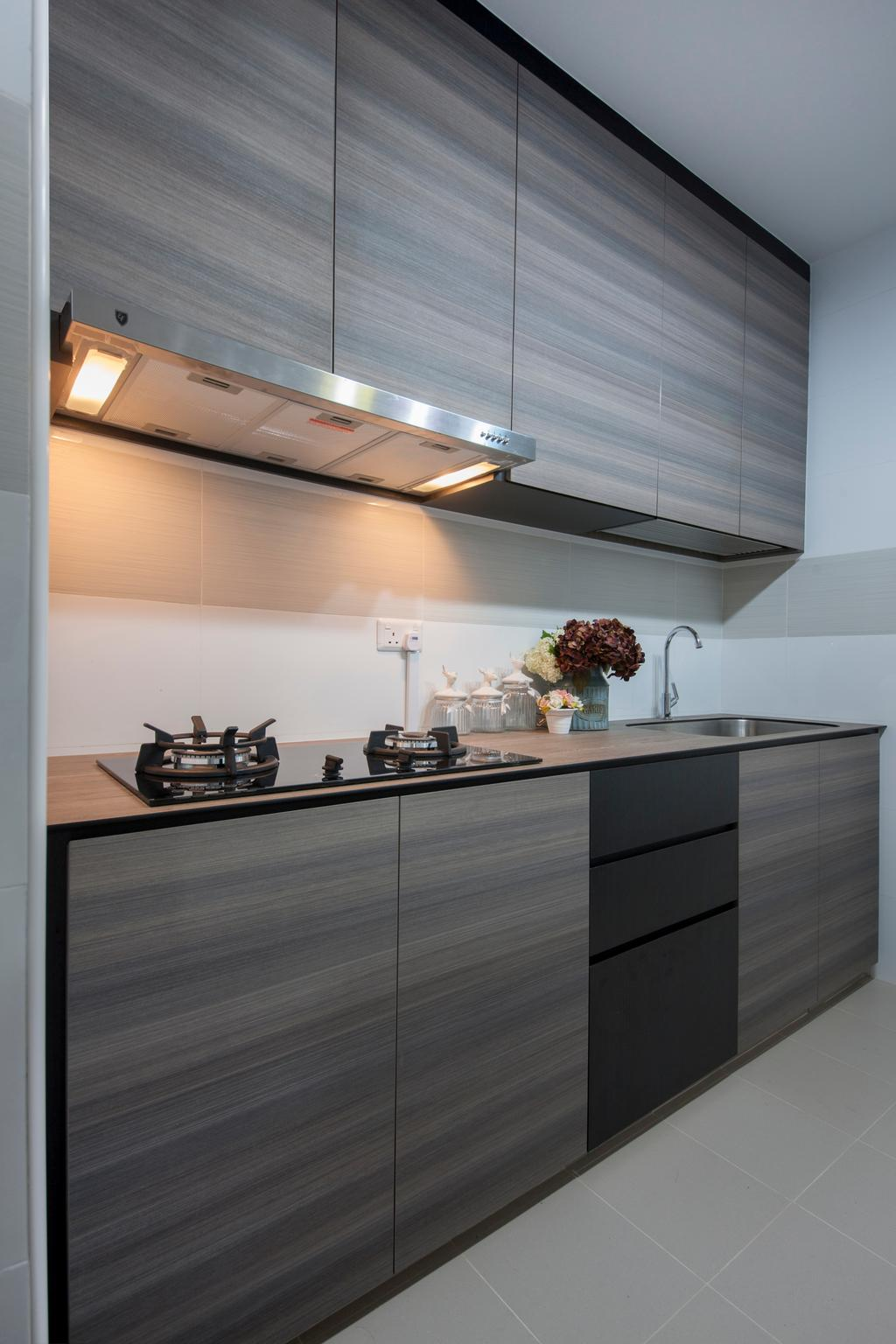 Scandinavian, HDB, Kitchen, Keat Hong Colours (Block 810B), Interior Designer, Starry Homestead, Modern Kitchen, Kitchen Stove, Appliances, Furniture, Sideboard, Flora, Jar, Plant, Potted Plant, Pottery, Vase