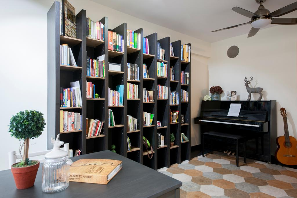 Scandinavian, HDB, Study, Keat Hong Colours (Block 810B), Interior Designer, Starry Homestead, Bookcase, Furniture, Shelf