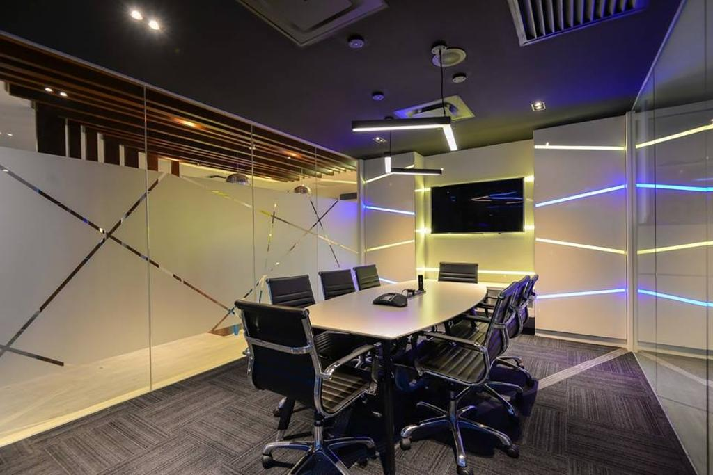 Media Innovations Services Sdn Bhd (Fetch TV), Commercial, Interior Designer, Dot Works, Modern, Contemporary, Lighting, Chair, Furniture, Conference Room, Indoors, Meeting Room, Room