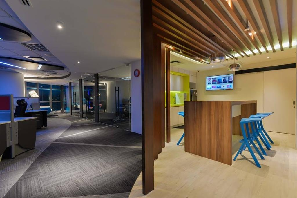 Media Innovations Services Sdn Bhd (Fetch TV), Commercial, Interior Designer, Dot Works, Modern, Contemporary, Indoors, Office, Chair, Furniture, Lighting, Flooring