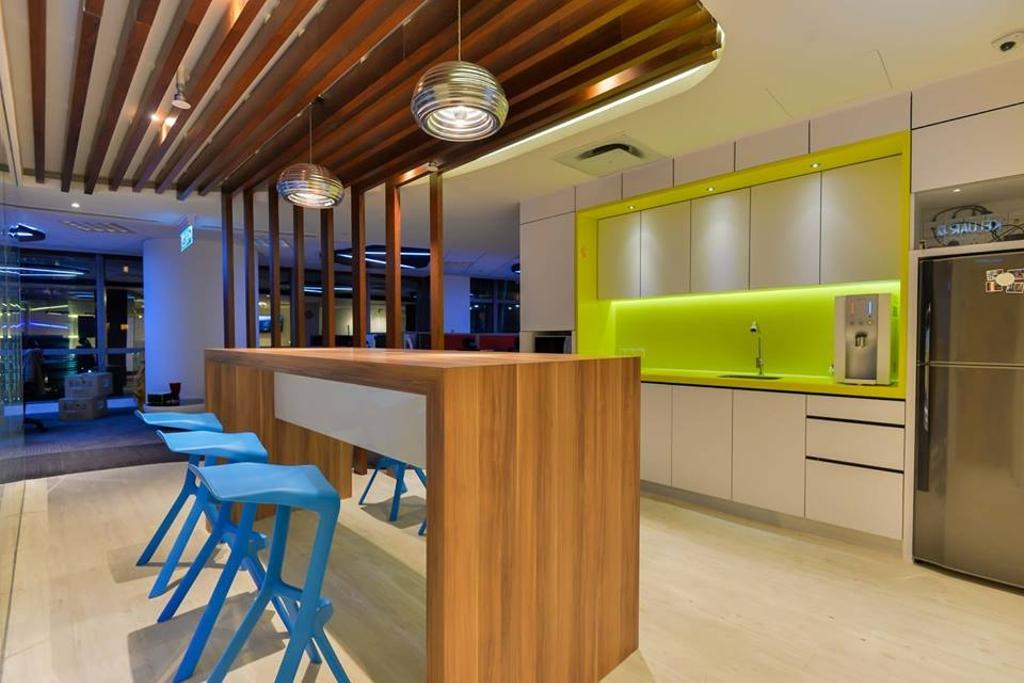 Media Innovations Services Sdn Bhd (Fetch TV), Commercial, Interior Designer, Dot Works, Modern, Contemporary, Furniture, Bowl, Restaurant, Chair, Plywood, Wood