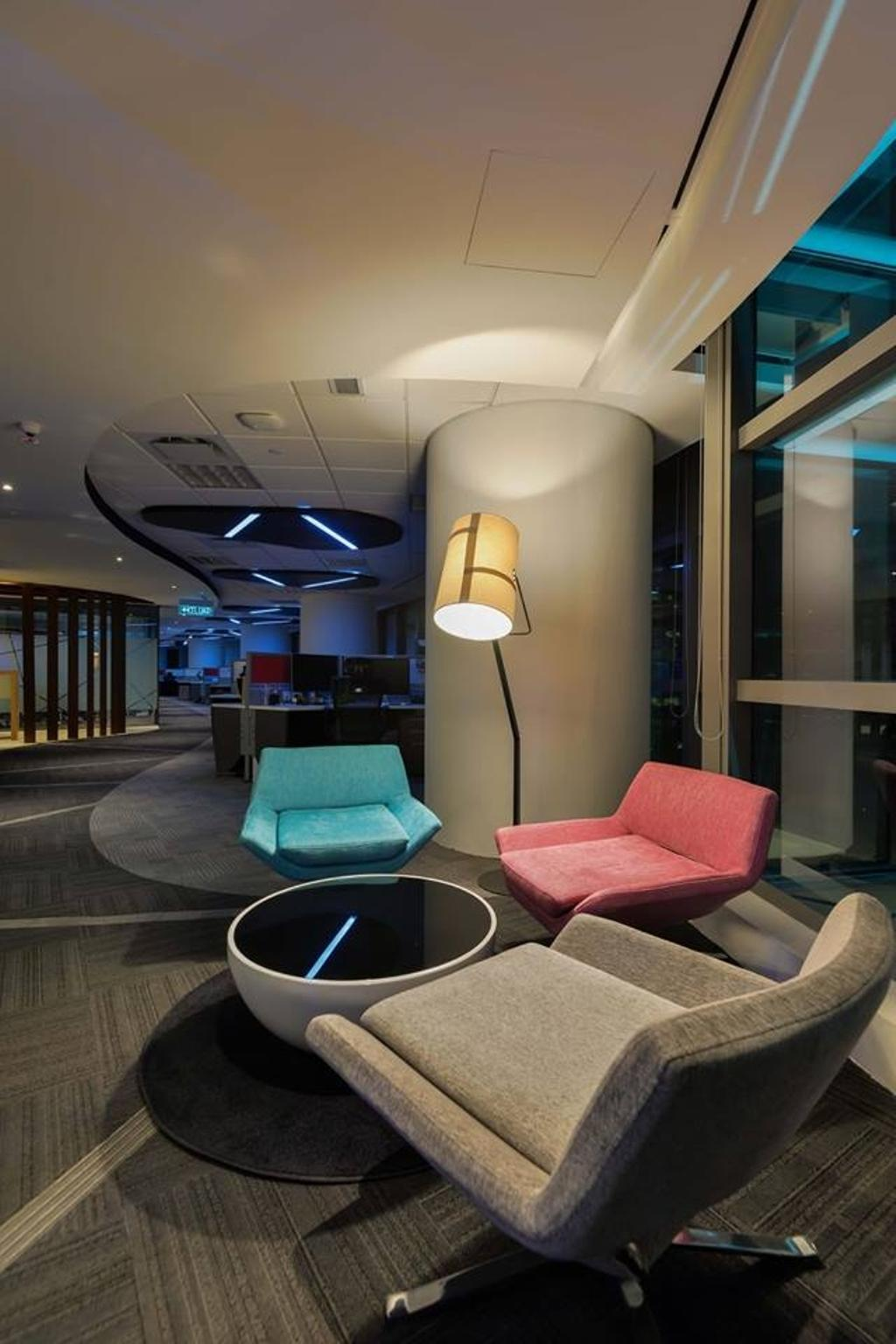 Media Innovations Services Sdn Bhd (Fetch TV), Commercial, Interior Designer, Dot Works, Modern, Contemporary, Chair, Furniture, Couch, Lighting