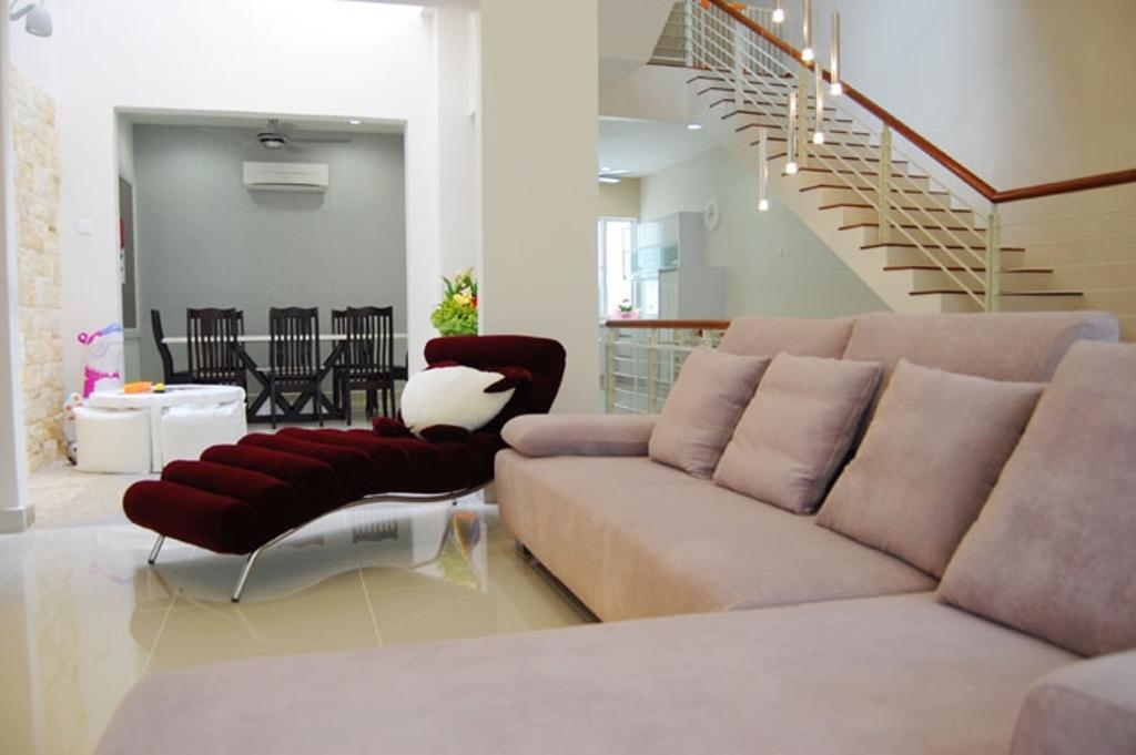 Contemporary, Condo, Living Room, Cheras, Interior Designer, Meridian Interior Design, Modern, Couch, Furniture