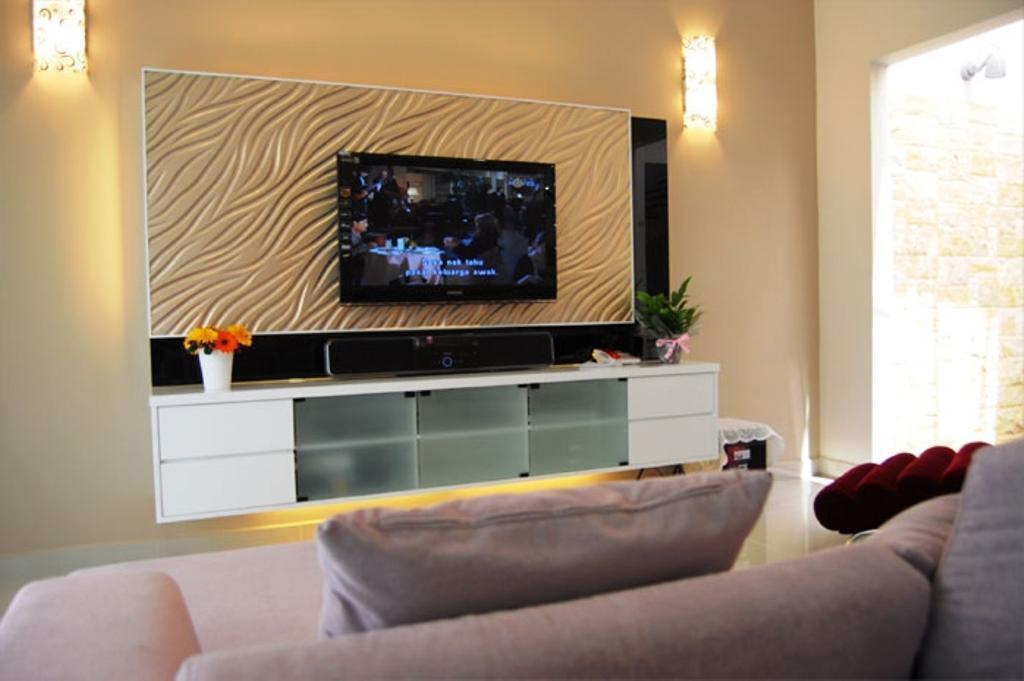 Contemporary, Condo, Living Room, Cheras, Interior Designer, Meridian Interior Design, Modern, Couch, Furniture, Electronics, Entertainment Center