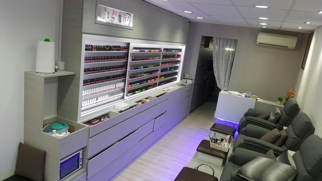 Dolish Nail Spa, Commercial, Interior Designer, DL Abode Design Solutions, Modern