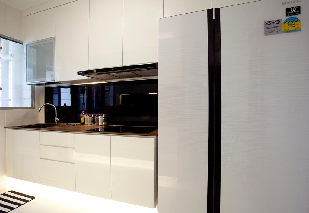 Scandinavian, HDB, Kitchen, Anchorvale, Interior Designer, Voila, Concealed Lighting