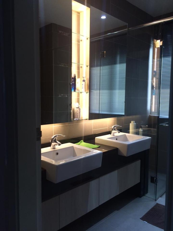 Contemporary, Condo, Bathroom, Loke's Residence, Interior Designer, Spazio Design Sdn Bhd, Modern, Sink, Indoors, Interior Design, Room