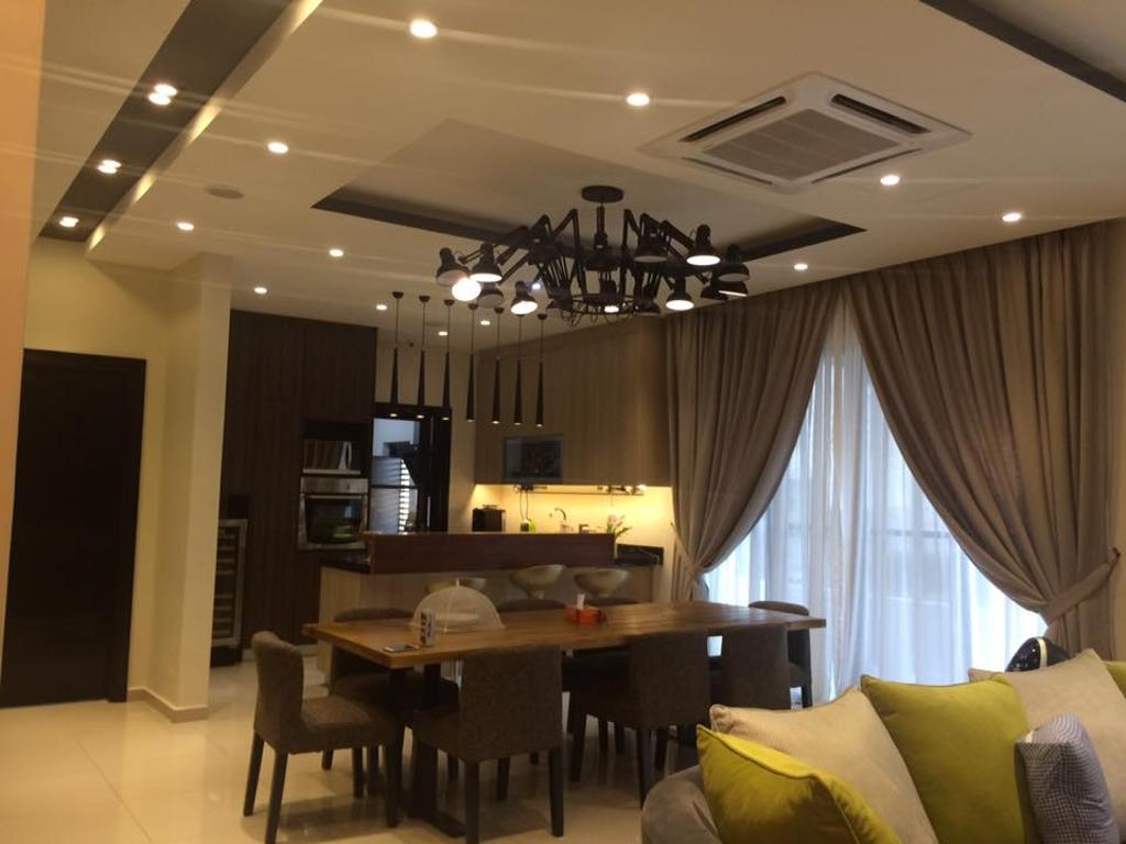Contemporary, Condo, Dining Room, Loke's Residence, Interior Designer, Spazio Design Sdn Bhd, Modern, Dining Table, Furniture, Table, Indoors, Room, Couch