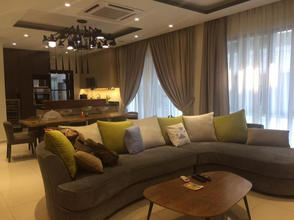 Contemporary, Condo, Living Room, Loke's Residence, Interior Designer, Spazio Design Sdn Bhd, Modern, Couch, Furniture, Indoors, Room