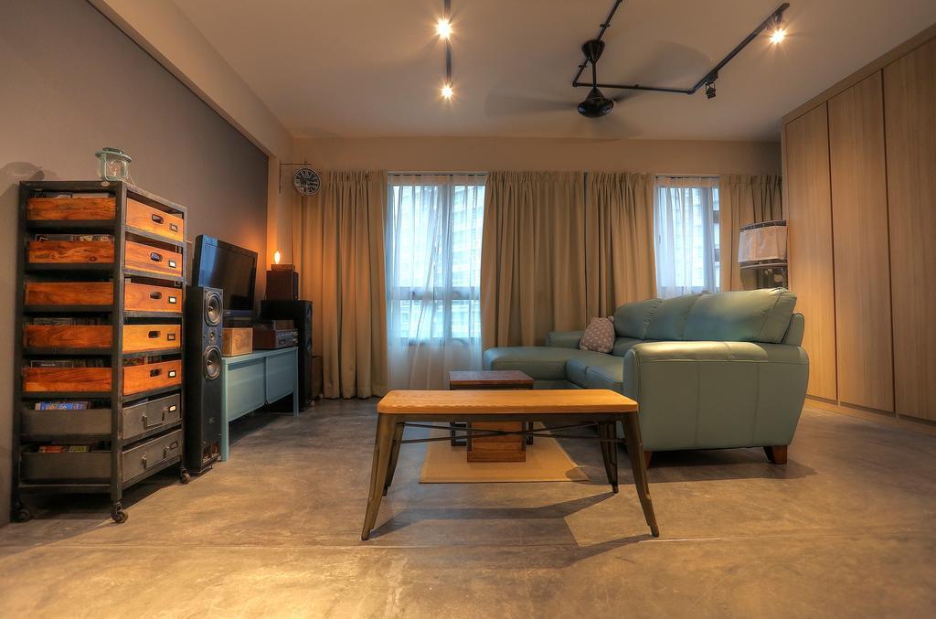 Scandinavian, HDB, Living Room, Punggol Emerald (Block 265C), Interior Designer, Ingenious Design Solutions, Flooring, Furniture, Indoors, Room, Bedroom, Interior Design, Couch