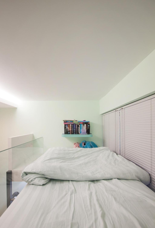 Modern, Condo, Bedroom, Blossom Residences, Interior Designer, Space Atelier, Blinds, Double Decker, Indoors, Interior Design, Room