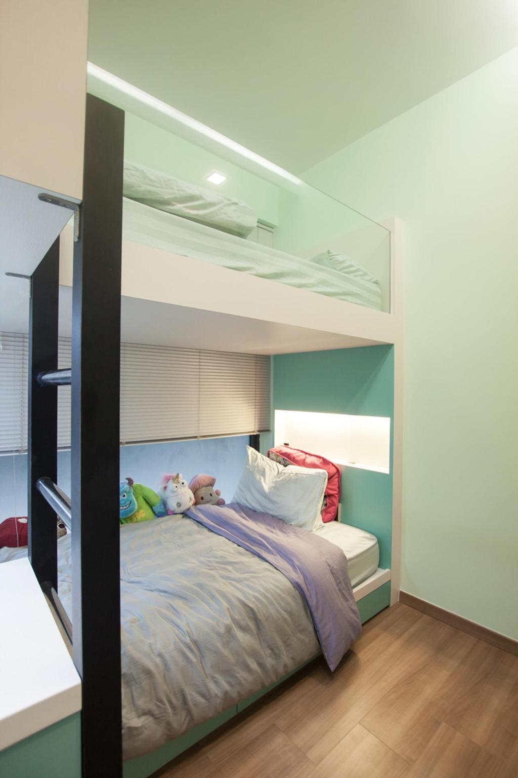 Modern, Condo, Bedroom, Blossom Residences, Interior Designer, Space Atelier, Douber Decker