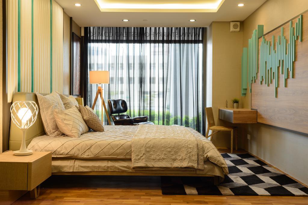 Starry Homestead Studio, Commercial, Interior Designer, Starry Homestead, Eclectic, Bedroom, Curtain, Wallart, Checkered Floor, Chair, Furniture, Indoors, Interior Design