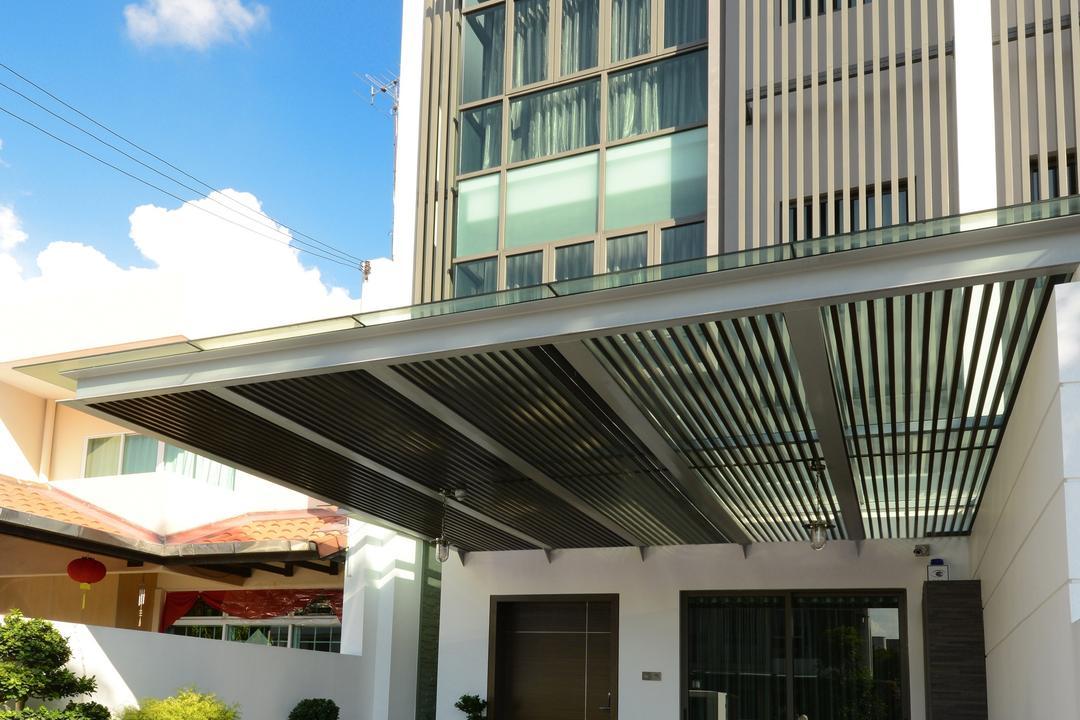 Ah Soo Gardens, Darwin Interior, Modern, Contemporary, Garden, Landed, Canopy, Awning, Building, House, Housing, Villa