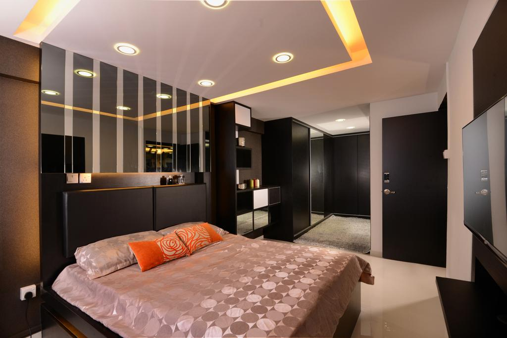 Modern, HDB, Bedroom, Ang Mo Kio, Interior Designer, Darwin Interior, Contemporary, Indoors, Room