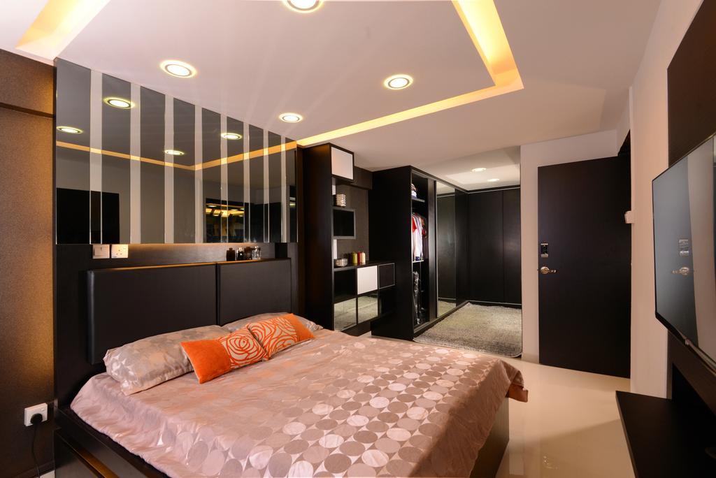 Modern, HDB, Bedroom, Ang Mo Kio, Interior Designer, Darwin Interior, Contemporary, Bed, Furniture, Indoors, Room