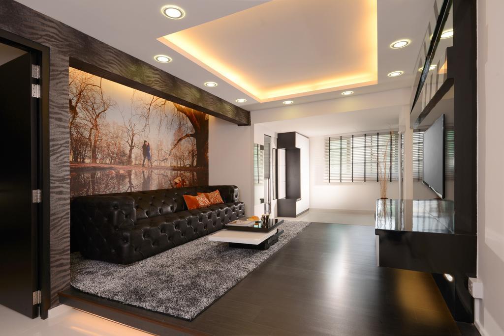 Modern, HDB, Living Room, Ang Mo Kio, Interior Designer, Darwin Interior, Contemporary, Indoors, Interior Design