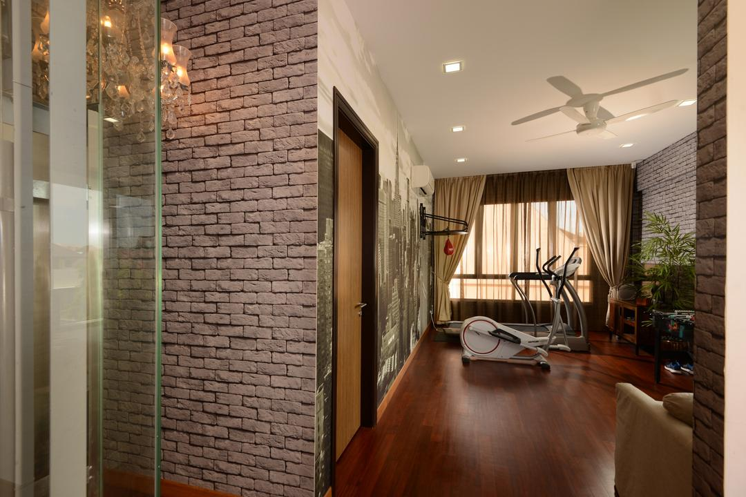 Brick wallpaper interior design singapore interior design ideas
