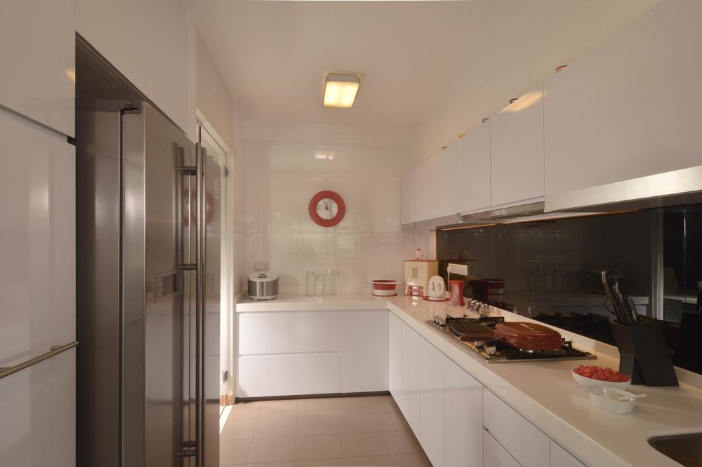 Contemporary, HDB, Kitchen, Punggol Place, Interior Designer, Darwin Interior, Indoors, Interior Design, Room