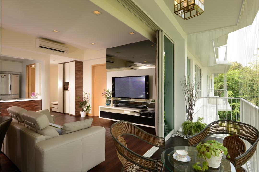 Tree House, Darwin Interior, Modern, Balcony, Condo, Outdoor Balcony Furniture, Couch, Furniture, Chair, Indoors, Interior Design, Banister, Handrail, Staircase