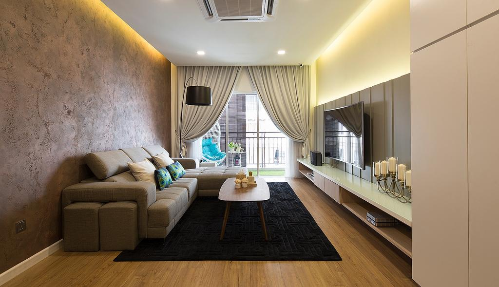 Modern, Condo, Living Room, Waldorf Tower, Mont Kiara, Interior Designer, Box Design Studio Sdn Bhd, Eclectic, Vintage