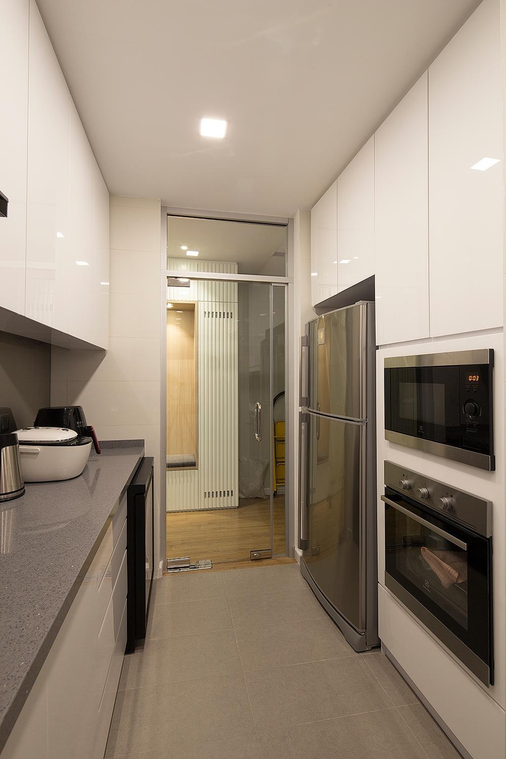 Modern, Condo, Kitchen, Waldorf Tower, Mont Kiara, Interior Designer, Box Design Studio Sdn Bhd, Eclectic, Vintage