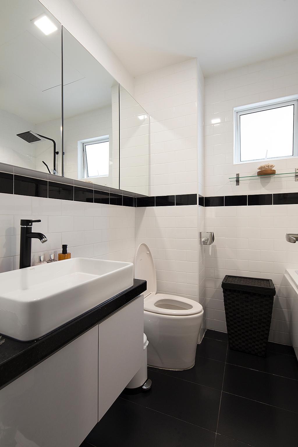 Modern, Condo, Bathroom, Waldorf Tower, Mont Kiara, Interior Designer, Box Design Studio Sdn Bhd, Eclectic, Vintage