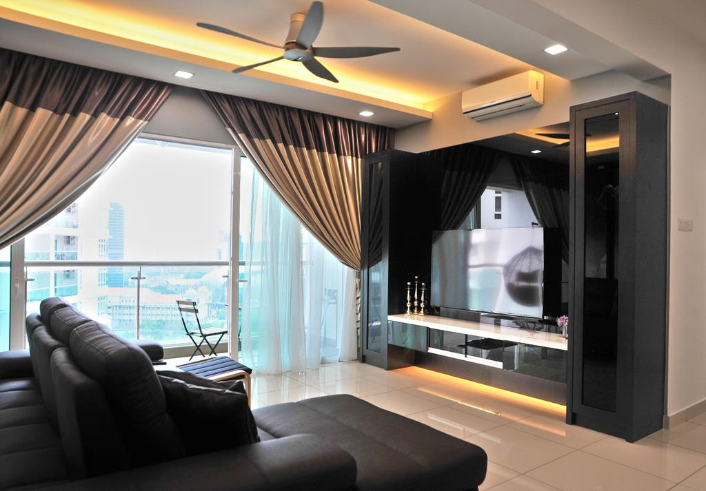 Modern, Condo, Living Room, Royal Regent Putramas 3, Interior Designer, Spazio Design Sdn Bhd, Contemporary, Indoors, Room