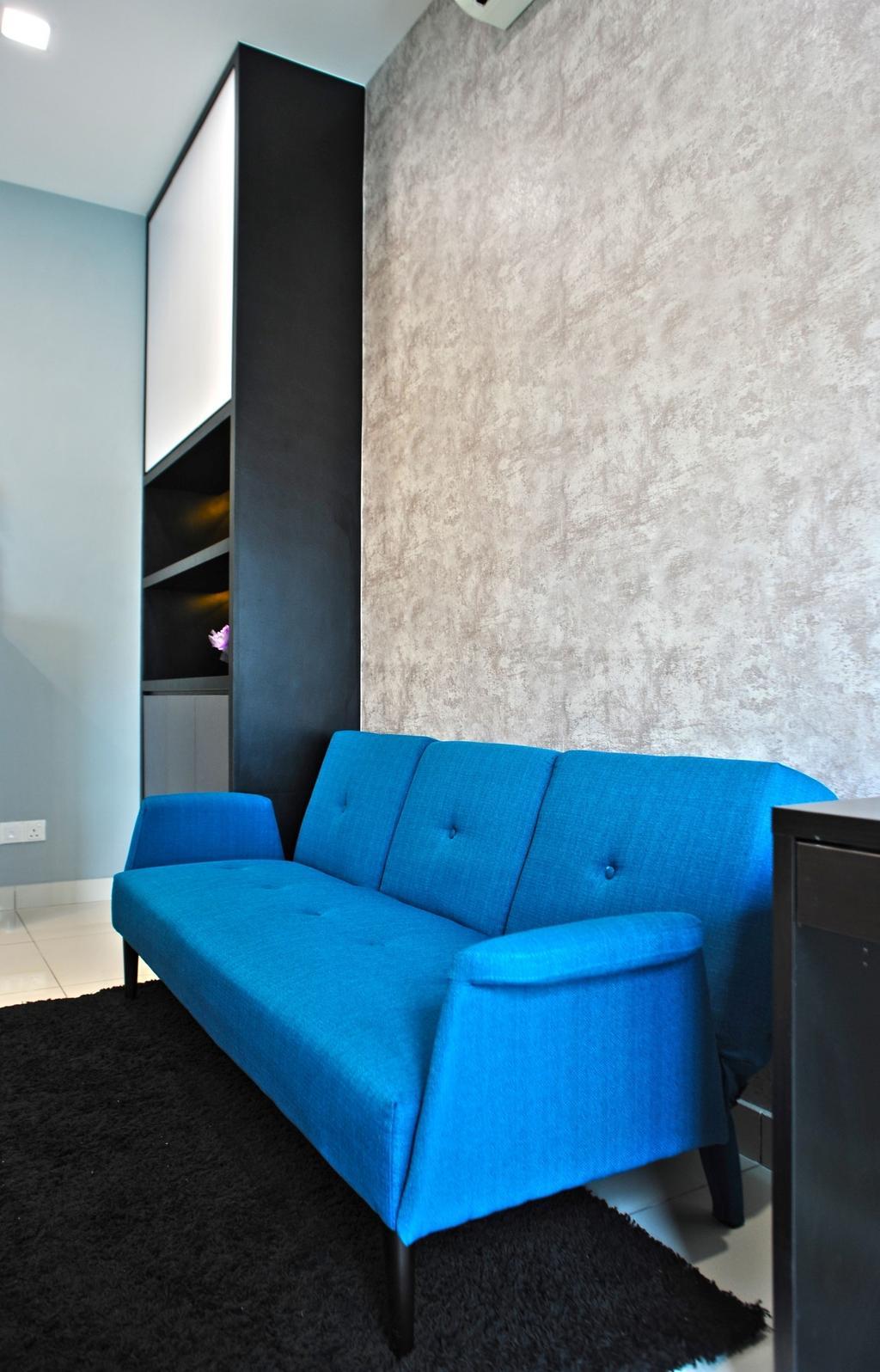 Modern, Condo, Study, Royal Regent Putramas 3, Interior Designer, Spazio Design Sdn Bhd, Contemporary, Couch, Furniture, Chair
