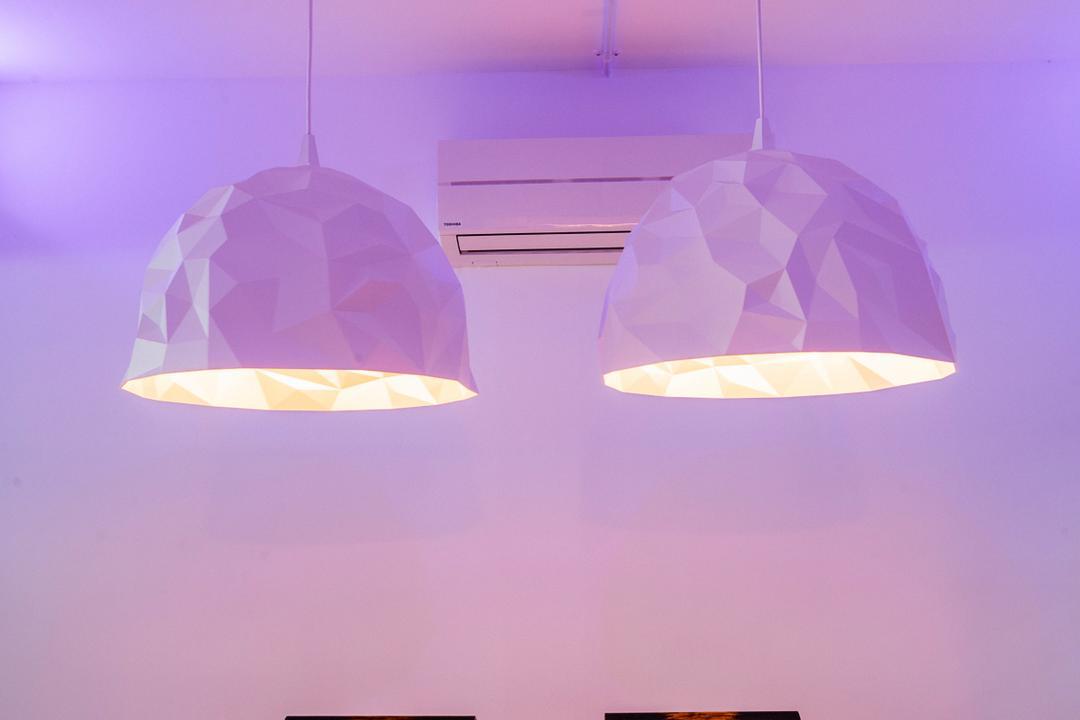 Woodlands (Block 820), Prozfile Design, Eclectic, Bedroom, HDB, Hanging Light, Glass, Goblet