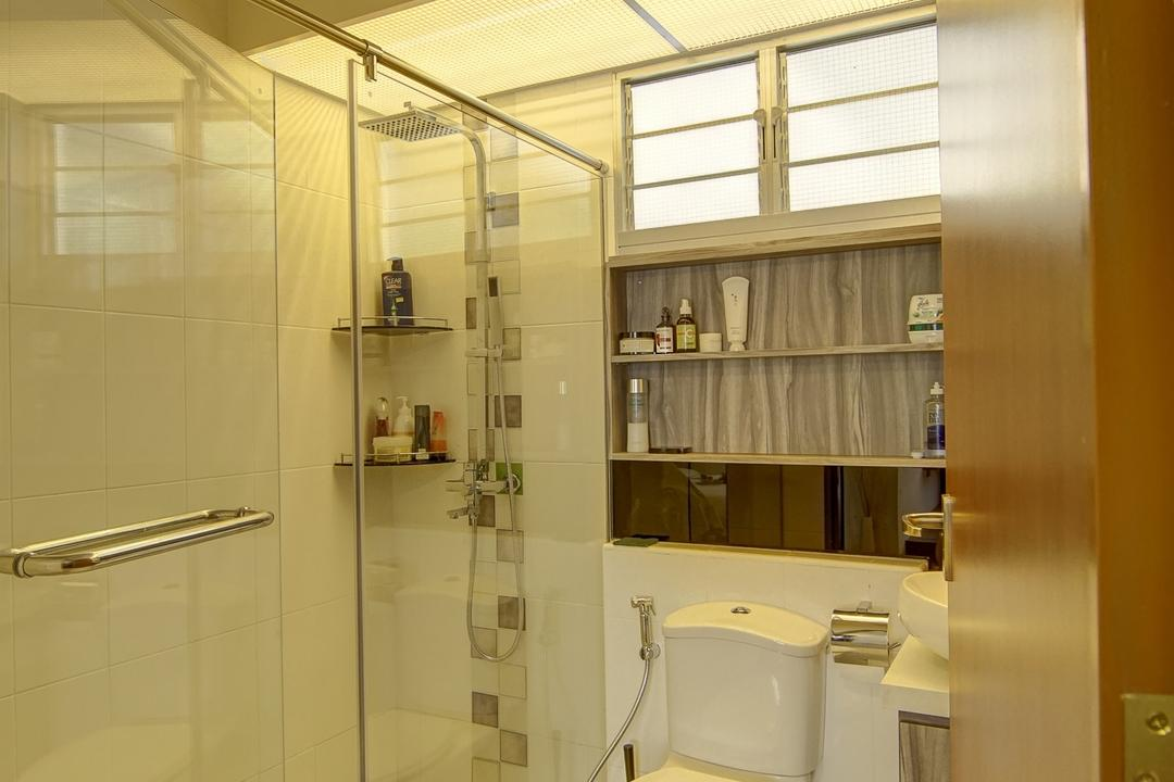 Punggol, Ai Concept, Traditional, Bathroom, HDB, Shower Glass Screen, Built In Shelf, Indoors, Interior Design, Room
