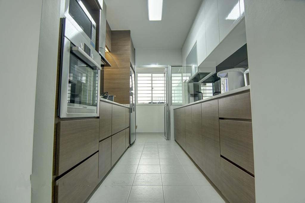 Traditional, HDB, Kitchen, Punggol, Interior Designer, Ai Concept, Corridor